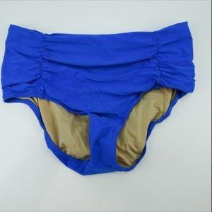 J Crew Blue Pinup Bikini Bottom Size M